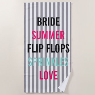 Toalla De Playa La novia del verano de la sirsaca asperja la