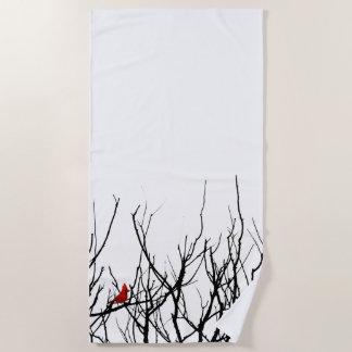 Toalla De Playa Las pimientas de Leslie del ~ del pájaro del rojo