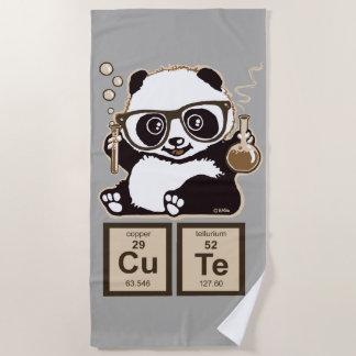 Toalla De Playa Lindo descubierta panda de la química