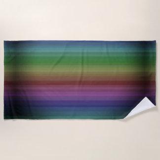 Toalla De Playa Línea modelo de la raya de la roca del arco iris