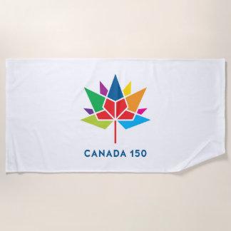 Toalla De Playa Logotipo del funcionario de Canadá 150 -