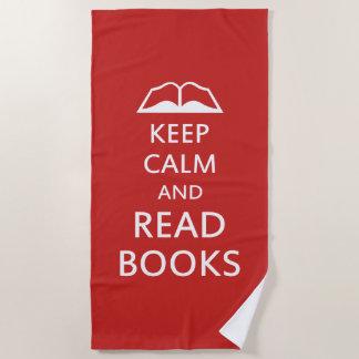 Toalla De Playa Mantenga tranquilo y lea los libros