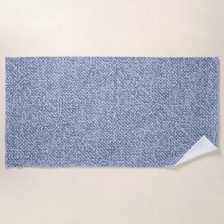 Toalla De Playa Mirada azul geométrica de la materia textil del