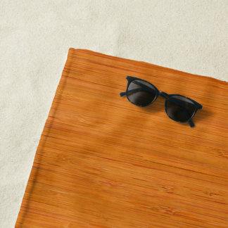 Toalla De Playa Mirada de madera de bambú ambarina del grano