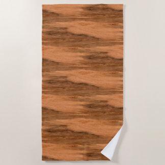 Toalla De Playa Mirada de madera del grano del eucalipto natural