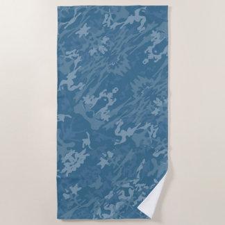 Toalla De Playa Modelo azul del camuflaje