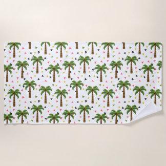 Toalla De Playa Modelo lindo con las palmeras y las formas