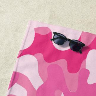 Toalla De Playa Modelo rosado bonito del camuflaje de los colores
