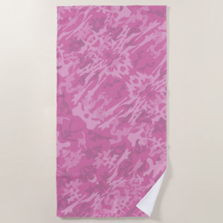 Toalla De Playa Modelo rosado del camuflaje