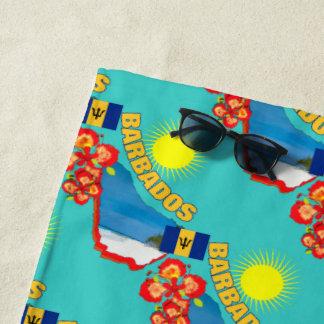 Toalla De Playa Orgullo del día de fiesta soleado de la flor y del