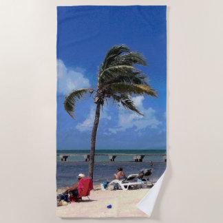 Toalla De Playa Playa con la palma de coco