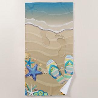 Toalla De Playa Playa de la sandalia