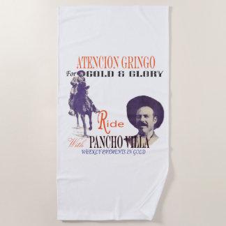 Toalla De Playa Poster antiguo del paseo de Pancho Villa