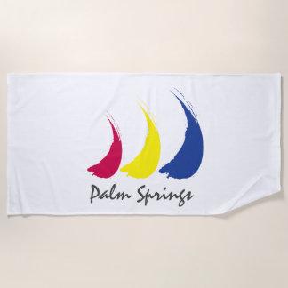 Toalla De Playa Primaveras líquidas de Sails_Paint-The-Wind_Palm