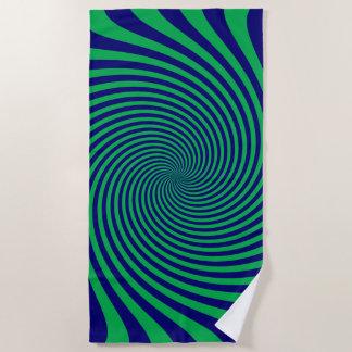 Toalla De Playa Remolino infinito azul y verde vibrante en a
