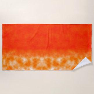 Toalla De Playa Resplandor químico anaranjado de neón