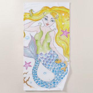 Toalla De Playa Sirena linda
