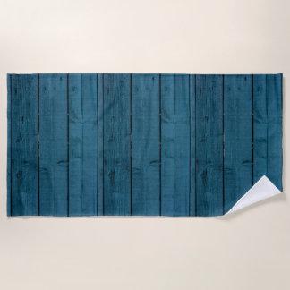 Toalla De Playa Tablones de madera pintados azul