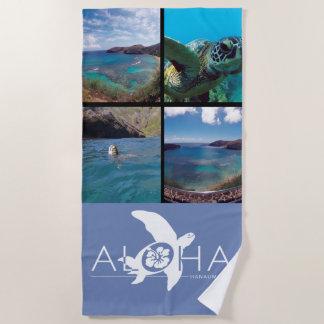 Toalla De Playa Tortuga de la hawaiana de la bahía de Hanauma de