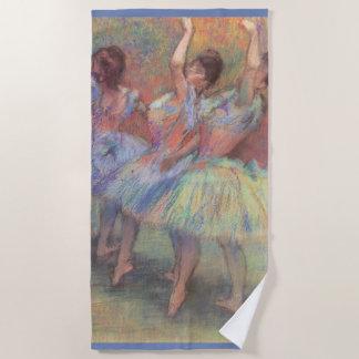 Toalla De Playa Tres bailarines de Edgar Degas, arte del ballet