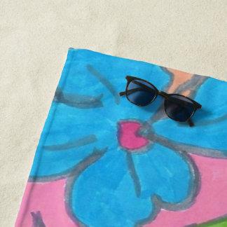 Toalla de playa tropical del fiesta del arco iris