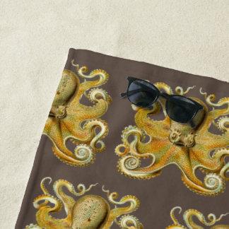 Toalla De Playa Vintage Kraken, pulpo gigante de Ernst Haeckel