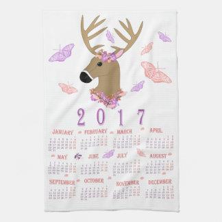 toalla de té de 2017 ciervos y de las mariposas