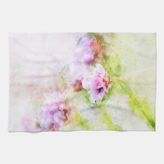 Toalla de té de la flor del rosa de mar