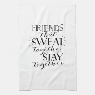Toalla del entrenamiento del sudor de los amigos
