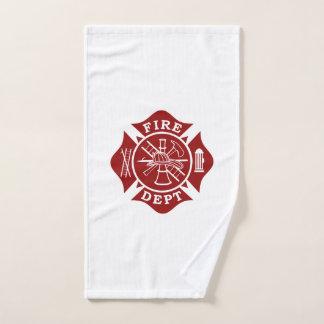 Toalla del gimnasio de la cruz maltesa del bombero