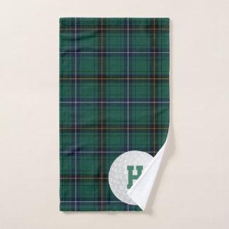 Toalla del golf de la tela escocesa de tartán del
