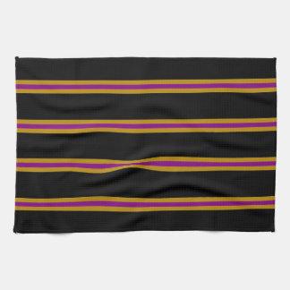 Toalla - negro, vara de oro, púrpura