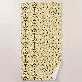 Toallas de playa del diseño del signo de la paz de