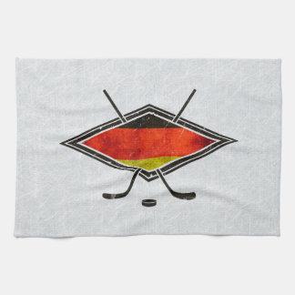 Toallas de té alemanas de la bandera del hockey