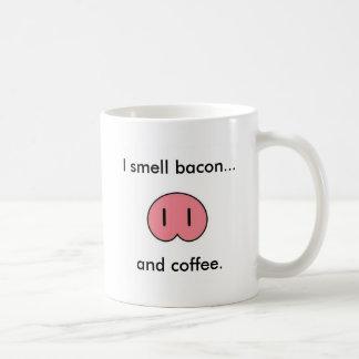 Tocino del olor de la nariz w/I del cerdo… Taza De Café