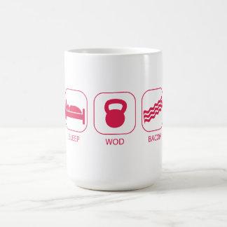Tocino del sueño WOD - levantamiento de pesas del  Tazas De Café