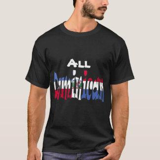 Toda la camiseta dominicana de la bandera