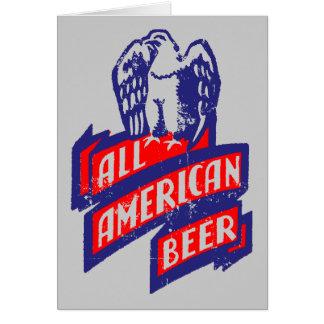 Toda la cerveza americana tarjeta de felicitación