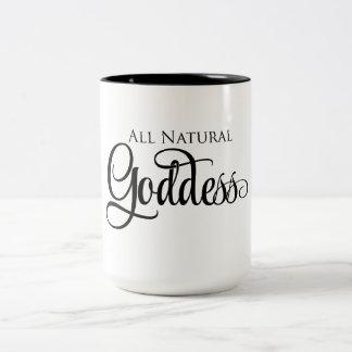 Toda la diosa natural taza bicolor