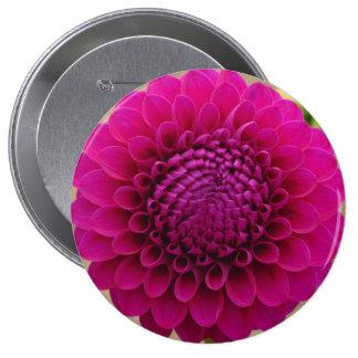 Toda la flor violeta chapa redonda 10 cm