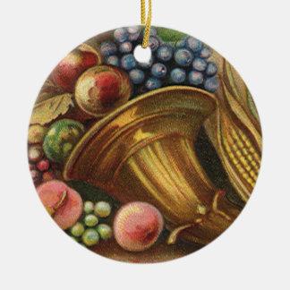 Toda la generosidad de la acción de gracias sea adorno redondo de cerámica