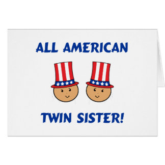 Toda la hermana gemela americana tarjeta