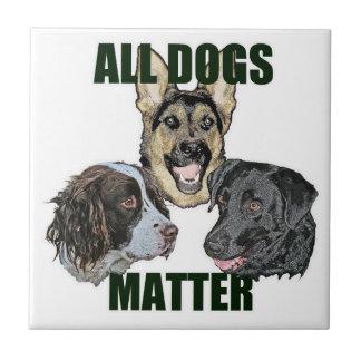 Toda la materia de los perros azulejo cuadrado pequeño