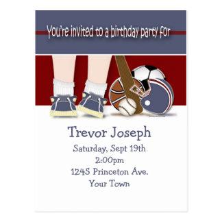 Toda la plantilla de la invitación del cumpleaños postal