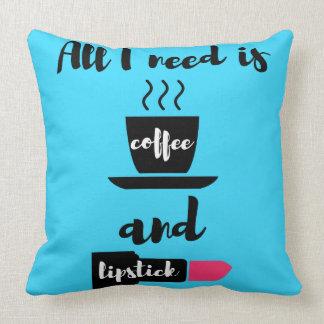Toda lo que necesito es almohada del café y del