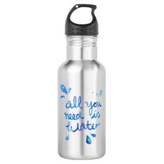 Toda lo que usted necesita es botella de agua del