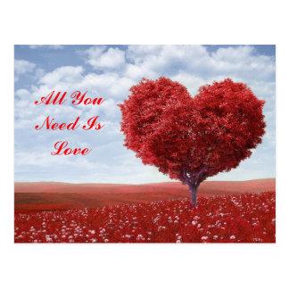 Toda lo que usted necesita es postal del amor
