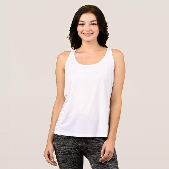 Camiseta deportiva de tirantes para mujer, Blanco