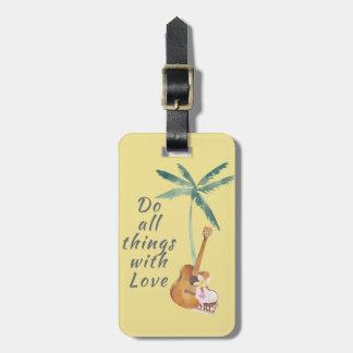 Todas las cosas con el amor tropical etiqueta para maletas