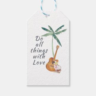 Todas las cosas con el amor tropical etiquetas para regalos